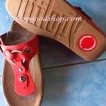 รองเท้า Fitflob New สวมกระดุม สีแดง No.FF190