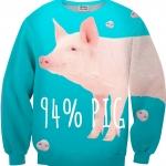 Pre-Order เสื้อยืดพิมพ์ลาย MR.GUGU & Miss GO : PIG SWEATER