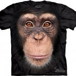 Pre.เสื้อยืดพิมพ์ลาย3D The Mountain T-shirt : Chimp Face