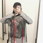 [Preorder] เสื้อตาข่ายแขนยาวคอกลมไว้ใส่คู่กับชุดอื่น มีแบบสั้น/ยาว
