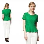 Berry England 2013 เสื้อผ้าลูกไม้ คอกลม แขนสั้น เข้ารูป ติดซิปหลัง YKK สีเขียว