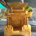 ศาลเจ้าที่หินอ่อน (ตี่จู้หินอ่อน ตี่จู้เอี๊ยะ) ขนาด 27นิ้ว 888 น้ำผึ้งแก้ว