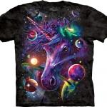 Pre.เสื้อยืดพิมพ์ลาย3D The Mountain T-shirt : Unicorn Cosmos T-Shirt