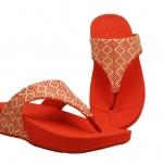 รองเท้า Fitflob Palma Raffia flame สีส้ม No. FF096