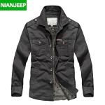 Pre-order เสื้อแจ็คเก็ต เสื้อคลุมกันหนาว แฟชั่นสไตล์อเมริกันคลาสสิก กันลม คอปก หนุ่มมาดเท่ ขาลุย สีเขียวเข้ม NIAN Jeep
