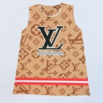 Size L ชุดเดรสการ์ตูน ลาย Louis Vuitton