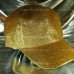 หมวก Cap กากเพชร กลิตเตอร์ Glitter สีทอง