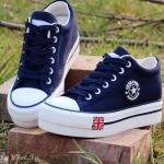 รองเท้าผ้าใบมาใหม่ Chic Chic สไตล์ Converse ผ้ายีนส์ ผูกเชือก แต่งลายธงชาติ