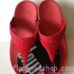 รองเท้า Fitflob New หูหนีบ ลูกไม้ สีแดง  No.FF380
