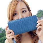 กระเป๋าสตางค์ผู้หญิง HOW1-0022 ลายหนังจระเข้