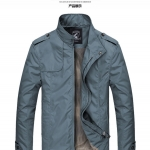 Pre-Order เสื้อแจ็คเก็ตผู้ชาย เสื้อแจ็คเก็ตธุรกิจผู้ชาย เสื้อแจ็คเก็ตผู้ชายสไตล์ลำลอง ผ้าฝ้ายผสมเส้นใยสังเคราะห์ สีฟ้า