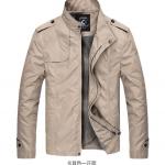 Pre-Order เสื้อแจ็คเก็ตผู้ชาย เสื้อแจ็คเก็ตธุรกิจผู้ชาย เสื้อแจ็คเก็ตผู้ชายสไตล์ลำลอง ผ้าฝ้ายผสมเส้นใยสังเคราะห์ สีกากี