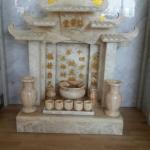 ศาลเจ้าที่จีน 27 นิ้ว 5 หลังคา เขามังกร (หินหยกน้ำผึ้งแก้ว)