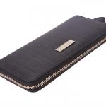 กระเป๋าคลัช แฟชั่นกระเป๋าสไตล์อิตาลี กระเป๋าหนังแท้สีดำ ปั้มลายถัก ยี่ห้อ Playboy