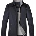 Pre-Order เสื้อเจ็คเก็ตผู้ชาย ผ้าฝ้ายผสมโพลีเอสเตอร์ แฟชั่นเสื้อทำงานแบบกึ่งทางการ สีน้ำเงิน