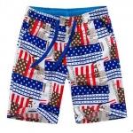 Pre-order กางเกงขาสั้น กางเกงลำลองฤดูร้อน กางเกงทะเล แฟชั่นสไตล์เกาหลี สำหรับหนุ่มไซส์ใหญ่ American star
