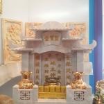 ศาลเจ้าที่จีน 27 นิ้ว 5 หลังคา เขามังกร (หินสีเทา)