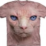 Pre.เสื้อยืดพิมพ์ลาย3D The Mountain T-shirt : Hairless Pussycat Face