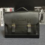 Pre-Order กระเป๋าสะพายผู้หญิง กระเป๋าเอกสาร หนังเทียม PU และสายสะพายยาวถอดออกได้ ติดซิปด้านบน สีดำ