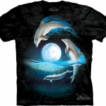 Pre.เสื้อยืดพิมพ์ลาย3D The Mountain T-shirt : Over the Moon