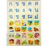 บล็อกไม้ พยัญชนะ ก-ฮ สระ จับคู่กับรูปภาพ ทั้งหมด 105 ชิ้น
