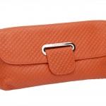 กระเป๋าคลัช แฟชั่นกระเป๋าสไตล์อิตาลี กระเป๋าหนังแท้สีส้ม ยี่ห้อ TUCANO (ตรานกหัวขวาน)