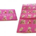 ที่นอนปิคนิค หุ้มผ้า สีชมพู