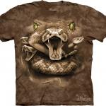 Pre.เสื้อยืดพิมพ์ลาย3D The Mountain T-shirt : Snake Moon Eyes