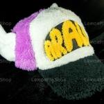 หมวก ARALE อาราเล่ รุ่นขนปุย สีม่วง ขาว ดำ 3 โทน