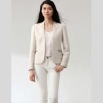 Pre-order เสื้อสูทผู้หญิง สินค้าระดับ Luxury ผ้าโพลีเอสเตอร์เนื้อดี เสื้อผ้าแฟชั่นสไตล์เกาหลี แขนยาว สีขาว