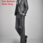 (พรีออเดอร์) ชุดสูทสากล ชุดสูทผู้ขาย สูทแนวสปอร์ต กระดุมสองเม็ด สีเทาเงิน (silver gray) แฟชั่นสูทสไตล์เกาหลี
