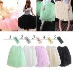 พร้อมส่ง กระโปรงยาว กระโปรงบาน กระโปรง Princess tutu skirt ผ้าตาข่าย 3 ชั้น กระโปรงออกงาน สำเนา