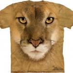 Pre.เสื้อยืดพิมพ์ลาย3D The Mountain T-shirt : Mountain Lion