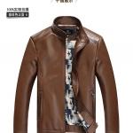 Pre-Order เสื้อแจ็คเก็ตหนังแกะ ผิวมัน สีน้ำตาล (สินค้าช่วงโปรโมชั่นพิเศษ)