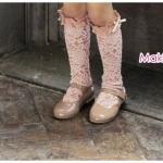 ถุงเท้าลูกไม้แบบยาว PinkIdeal