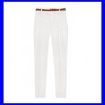 Pre order กางเกงทำงาน กางเกงลำลอง กางเกงทรงตรง จับจีบด้านหน้า กางเกงแฟชั่นเกาหลี BIG SIZE สีขาว