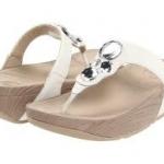 รองเท้า Fitflob Lunetta White เพชร 4 เม็ด สีขาว No.FF078