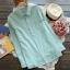 [พร้อมส่ง] เสื้อเชิร์ตลายสก๊อตสีพาสเทลหวาน มีสีฟ้า thumbnail 4