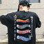 [Preorder] เสื้อยืดแนวสตรีทธงปลาคราฟญี่ปุ่น มีสีขาว/ดำ thumbnail 5