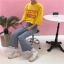 [Preorder] เสื้อยืดแนวสตรีทสีเหลือง Good Girls Bad Girls thumbnail 7