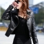พร้อมส่ง เสื้อแจ็คเก็ตหนัง เสื้อแจ็คเก็ตผู้หญิง เข้ารูปพอดีตัว สีดำ แต่งซิปเก๋ มีปก แฟชั่นเกาหลี thumbnail 1