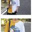[Preorder] เสื้อยืดแนวสตรีทต่อผ้าชายเสื้อไม่เท่ากัน มีสีเทา/เหลือง thumbnail 4