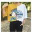 [Preorder] เสื้อยืดแนวสตรีทต่อผ้าชายเสื้อไม่เท่ากัน มีสีเทา/เหลือง thumbnail 5