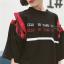 [พร้อมส่ง] เสื้อตัวยาวหลวมสไตล์เกาหลีแขนเย็บผูกด้วยเชือก สีดำ thumbnail 4