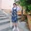 [Preorder] กระโปรงทรงเอสไตล์เกาหลีน่ารักลายสับปะรด มีสีน้ำเงิน/เหลือง thumbnail 3
