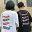 [Preorder] เสื้อยืดแนวสตรีทธงปลาคราฟญี่ปุ่น มีสีขาว/ดำ thumbnail 1