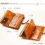 Pre-Order กระเป๋าสตางค์ผู้หญิง ใบยาว 3 พับถอดไส้ในออกได้ สีน้ำตาล หนังแท้ หนังวัว สไตล์เกาหลี JUNLAN thumbnail 4