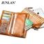 Pre-Order กระเป๋าสตางค์ผู้หญิง ใบยาว 3 พับถอดไส้ในออกได้ สีน้ำตาล หนังแท้ หนังวัว สไตล์เกาหลี JUNLAN thumbnail 2