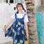 [Preorder] กระโปรงทรงเอสไตล์เกาหลีน่ารักลายสับปะรด มีสีน้ำเงิน/เหลือง thumbnail 2