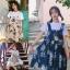 [Preorder] กระโปรงทรงเอสไตล์เกาหลีน่ารักลายสับปะรด มีสีน้ำเงิน/เหลือง thumbnail 1
